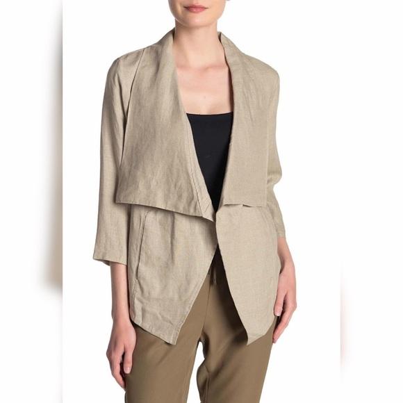 Dkny Jackets & Blazers - DKNY Draped Linen Jacket